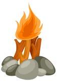 obozowy ogień Zdjęcie Stock