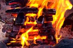 obozowy ogień Zdjęcia Royalty Free