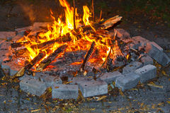 Obozowy ogień Zdjęcie Royalty Free