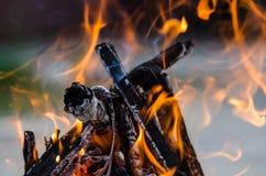 Obozowy ogień Zdjęcia Stock