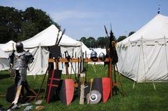 obozowy średniowieczny Obrazy Royalty Free