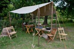 Obozowy wojna namiot Zdjęcie Royalty Free