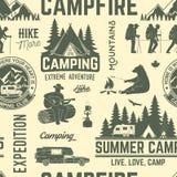 Obozu letniego tło lub Fotografia Stock
