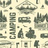 Obozu letniego tło lub Obrazy Stock
