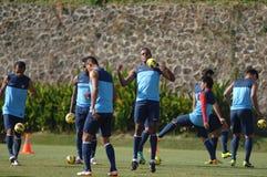 Obozu szkoleniowego Indonesia zawody międzynarodowi futbol Obrazy Royalty Free