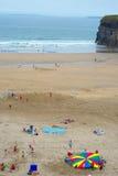 Obozy letni na ballybunion plaży Zdjęcie Royalty Free