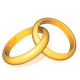 Obrączek ślubnych 3d ilustracja ilustracja wektor
