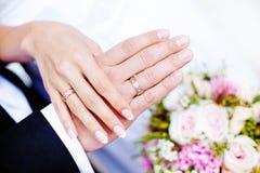 Obrączka ślubna fotografia royalty free