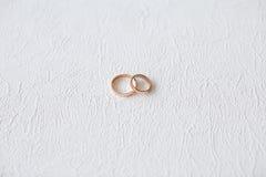 Obrączka ślubna nowożeńcy Fotografia Stock