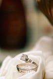 Obrączki ślubne Fotografia Royalty Free