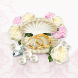 Obrączki ślubne ilustracyjne Zdjęcia Stock