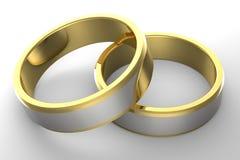 Obrączki ślubne klasyczne Fotografia Royalty Free