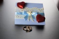 Obrączki ślubne tasiemkowe Fotografia Royalty Free