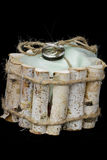 Obrączki ślubne wiązać w pudełku Obrazy Stock