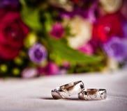 Obrączki ślubne Zdjęcie Royalty Free