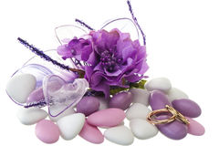Obrączki ślubnej i ślubów przysługi Zdjęcie Royalty Free