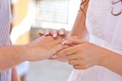 Obrączki ślubnej wymiana Fotografia Royalty Free