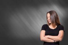 Obrażająca wzburzona młoda dziewczyna Zdjęcie Royalty Free