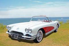 Obra clásica Chevrolet Corvette del vintage fotografía de archivo libre de regalías
