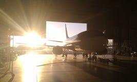 Obra clásica de Boeing 737 Foto de archivo libre de regalías