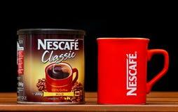 Obra clásica de Nescafe Foto de archivo