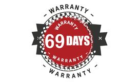 obra clásica del diseño de la garantía de 69 días, el mejor sello negro libre illustration