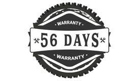 obra clásica del diseño de la garantía de 56 días, el mejor sello negro ilustración del vector