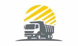 Obra clásica logística del logotipo del transporte del camión Fotos de archivo