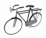 Obra clásica negra de la bici en blanco aislado Imagenes de archivo