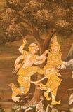 Obra maestra del arte tailandés tradicional de la pintura del estilo Imagen de archivo