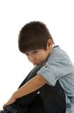Obrażająca chłopiec Fotografia Royalty Free