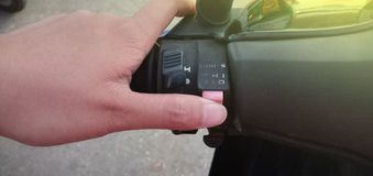 Obraca dalej przełącznikowych światła zdjęcie stock