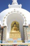 Obracający koło Dharma Dharmachakra, Shanti stupa -, Leh Ladakh Zdjęcie Stock