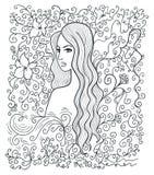 Obracająca dziewczyna ilustracji