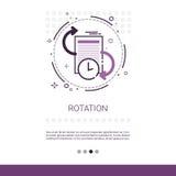 Obracanie aktualizaci Podaniowego procesu sieci sztandar Z kopii przestrzenią ilustracja wektor