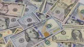 Obracanie Amerykańscy dolary różna godność, zbiory wideo