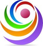 Obracanie logo royalty ilustracja