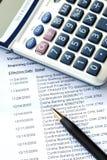 obrachunkowy banka czek miesięczny oświadczenie Obraz Stock
