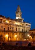 Obradoiro Square  in evening. Santiago de Compostela Stock Images