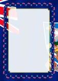 Obramia i granica faborek z Falkland wyspy flaga, szablonów elementy dla twój świadectwa i dyplom, wektor Obraz Stock