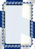 Obramia i granica faborek z Finlandia flaga, szablonów elementy dla twój świadectwa i dyplom, wektor Obraz Royalty Free