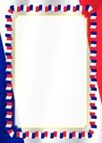Obramia i granica faborek z Francja flaga, szablonów elementy dla twój świadectwa i dyplom, wektor Obrazy Royalty Free