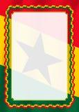Obramia i granica faborek z Ghana flaga, szablonów elementy dla twój świadectwa i dyplom, wektor Obrazy Stock