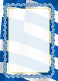 Obramia i granica faborek z Grecja flaga, szablonów elementy dla twój świadectwa i dyplom, wektor Fotografia Royalty Free