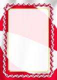 Obramia i granica faborek z Greenland flaga, szablonów elementy dla twój świadectwa i dyplom, wektor Zdjęcia Stock