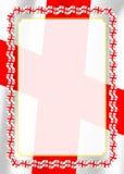 Obramia i granica faborek z Gruzja flaga, szablonów elementy dla twój świadectwa i dyplom, wektor Zdjęcie Royalty Free