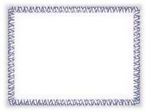 Obramia i granica faborek z Izrael flaga ilustracja 3 d royalty ilustracja
