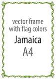 Obramia i granica faborek z kolorami Jamajka flaga Obrazy Royalty Free