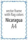 Obramia i granica faborek z kolorami Nikaragua flaga Obrazy Royalty Free