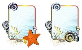 obramia życia morza set Zdjęcia Royalty Free